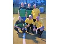 Over 55's 5 a side Football.