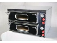 "Electric Double Pizza Oven, Commercial,2*4 13""pizza, 1 year Warranty, Single/3 phases, 48hr delivery"