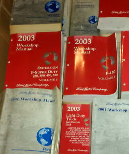 Workshop and Wiring Manuals for 2003 and 2001 Ford Vehicles