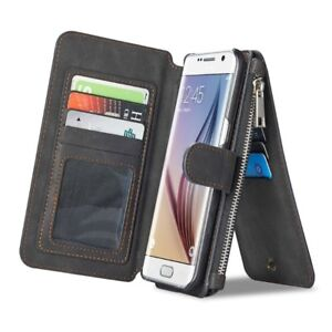 S7 Leather Cellphone Credit Card Wallet