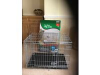 Dog crate 2 door small pets at home hardly used