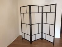 Japanese style divider/screen with 3 panels