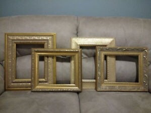 Gold wooden frames - great for wedding or home decor