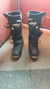 Size 12 motocross boots.