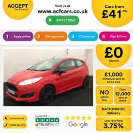 Ford Fiesta Zetec S Red Edition FROM £41 PER WEEK!