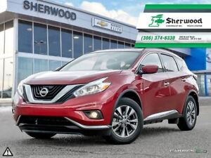 2017 Nissan Murano SV AWD Roof/NAV/Heated Wheel & Seats!!