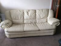 Leather white sofa bed