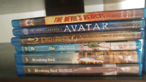 Blu ray seasons and movies for sale