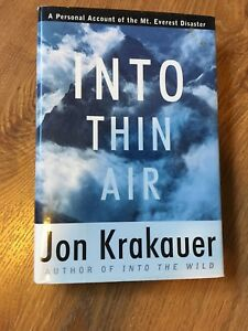 Into thin air by Jon Krakauer / hardcover