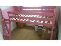Childs pine cabin bed