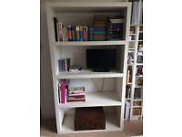 Bookcase, white, excellent condition, decent size, dismantles.