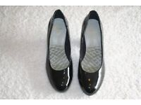 Black Patent Court Shoes - PRICE REDUCED.