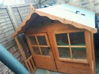 5ft x 5ft wooden wendy house