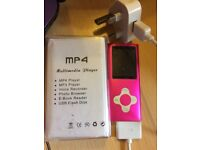 MP4 / MP3 Player with Charger