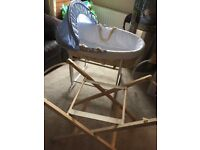 Mothercare Baby's Moses Basket and Two Stands