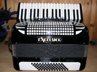 Excelsior, 72 Bass, 3 Voice, Piano Accordion.
