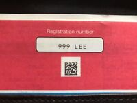 Private number plate 999 LEE for sale BMW MERCEDES AUDI VW RANGE ROVER