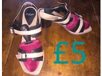 DESIGNER wear, barely worn: SHOES size 6 /39 - COME&TRY Wed 2nd/ Thurs 3rd Aug NW6