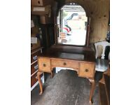 Stunning Walnut dressing table with attached mirror