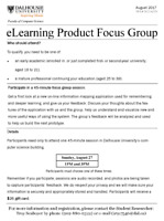 eLearning Product Focus Group Volunteer Participants