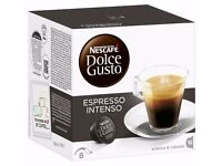 Nescafé Dolce Gusto Espresso Intenso Coffee Pods 16 Capsules (Pack of 3)