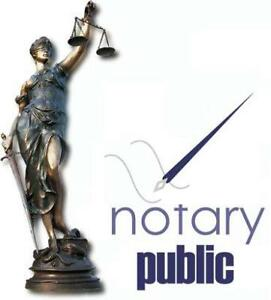 Notary Public and Commissioner of Oath Services