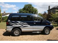 Mitsubishi Delica Chamonix SPACE GEAR SUPER SELECT 4WD with 11 months MOT and only 75,500 miles.