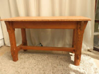 Small Pine Kitchen/Hall Table
