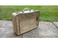 1940's Vintage Noton Suitcase with snake skin texture