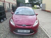 Late 2008 ford fiesta new model UK car loads of history buy now £103.25 month £600 down