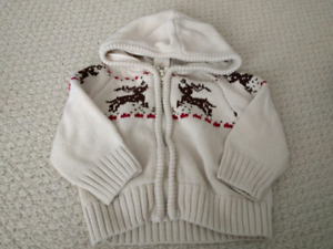 Joe Fresh Christmas Reindeer Sweater - size 12-18 months