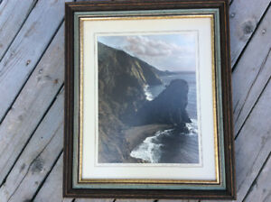 Framed W.R. MacAskill Coastline Cabot Trail (1979) Picture 16x20