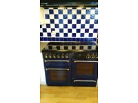 Blue Rangemaster 1100 Gas Cooker.Well-loved clean and in good condition.