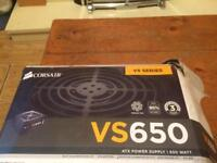 Corsair vs650 gaming computer power unit brand new never used