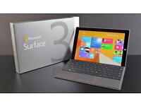 Microsoft Surface 3 128gb with Type Cover (Black) - Brilliant Condition