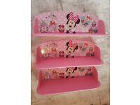 Minnie mouse shelves ×3