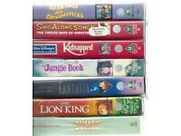 Collection of 12 Classic VHS PAL Disney Videos