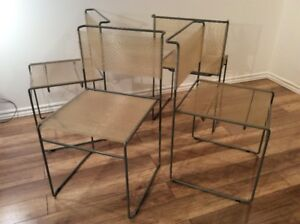 1980 Vintage Belotti Chairs-Chaises Spaghetti Retro de Belotti
