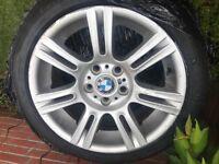 """BMW 17"""" MSPORT ALLOYS - x4 With Tyres"""
