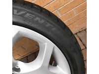 X5 Front alloy wheels and tyres