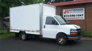 2007 Chev Express 12' Cube Van with Power Liftgate and 25,900 km