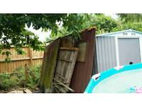 3 sides of a shed for fencing free