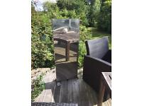 Stainless steel rectangular waterfall water feature