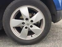 "Renault Megane 16"" alloys and tyres"
