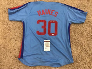 TIM RAINES AUTOGRAPHED EXPOS JERSEY JSA NEW AT SLAPSHOT