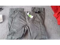 size 10 green ladies cargo trousers £2 new with tags