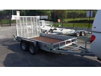 Digger plant roller moving trailer