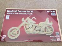 Wooden model of American Motorcycle