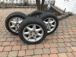 Mercedes original mags with tires