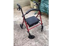 Drive walker with seat